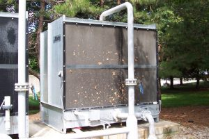 Cooling Tower Filter Screens stop cottonwood and airborne debris from getting into the fill, basin, strainers, heat exchangers and blow-down valves.